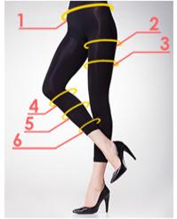 プロフェッショナル スレンダーメイクレギンスの脚痩せ効果-イメージ