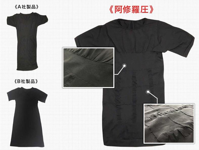 阿修羅圧と他社の加圧シャツ比較-画像