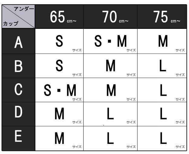 レストリアージュボリュームアップブラのサイズ表-画像
